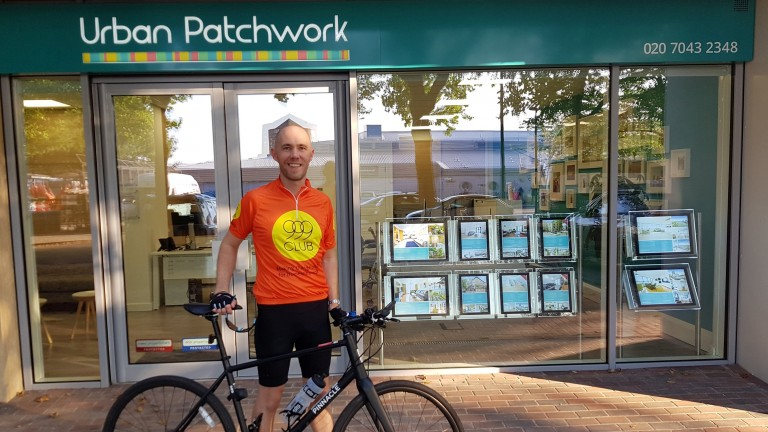 Cycling 100 miles for 999 Club